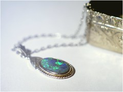 Treasure from the Box! (jesse1dog) Tags: macromondays trinkets pendant chain box trinketbox silver turquoise stone gm1 extensiontube tabletop russian jupiter9 85mm