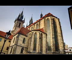 Church of Our Lady before Týn, Old Town Square (amandia) Tags: eos80d canon hdr praha gothic czechia oldtownsquare czechrepublic prague church motherofgodbeforetyn