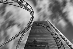 In the Loop (Sam Codrington) Tags: composite glass synergie reflection germany city outdoor sculpture banking platzdereinheit blue mono frankfurt travelphotography frankfurtammain monochrome motionblur sky architecture skyscraper bw blackandwhite geometric abstract hessen de