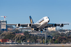 9V-SKF Singapore Airlines Airbus A380-841 RWY25 Sydney Airport SYD/YSSY 20/7/2018 (TonyJ86) Tags: 9vskf singaporeairlines sqsia airbus a380 a380800 a388 a380841 superjumbo widebody quadjet aircraft aviation airliner airplane aeroplane plane passenger jet jetliner jetaircraft jetplane passengerplane passengerjet international departure takeoff rotate flight fly airport syd yssy sydneyairport sydneykingsfordsmith sydney nsw newsouthwales australia planespotting avporn aviationporn avgeek travel nikon d750 nikond750 vehicle outdoor aviationphotography tamronsp150600mmf563divcusdg2 tamron airtravel sunny