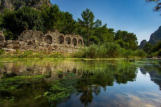 the ruin of an ancient roman bath, olympos turkey