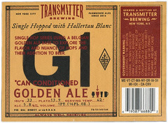 G1 by Jeff Rogers for Transmitter Brewing (Label_Craft) Tags: beer beers craftbeer labels craft labelcraft beerlabel design illustration type fonts burp beerme brew suds brewery transmitter transmitterbrewing lic g1 goldenale hallertaublanc jeffrogers frogers jorf