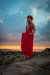 Beach Sunset Shoot India July 2018-13 (Philip Gillespie) Tags: edinburgh scotland gullane beach sunset sun evening models girls women posing sand sea sky clouds silhouette blond young amateur powder smoke lights soft guns umbrellas flash beautiful lovely canon 5dsr outdoors outside nature natural pose hair hands feet legs arms face head fashion dress shorts trousers skirts hats cave orange red blue green yellow fill dark night rocks coast coastline warm shore seaweed portrait india