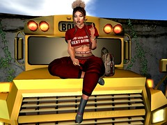 Boy Oh Boi.. (Pixel Beast) Tags: spirit dila red pants top gucci bee bag kitja boots ankle bueri school bus boi bye boy girl sexy woman book fuck you finger secondlife second life sl imvu day clouds car afro puff thepixelbeast thepixelbeastcom thesims chill opensim outfit avatar avi avikin blog blogger pixel beast pixelbeast black gold grey style blue after sky sunset sunrise