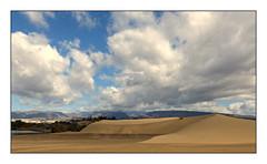 Gran Canaria (diaph76) Tags: extérieur paysage landscape nuages clouds dunes sable sand montagnes mountains espagne spain îlescanaries