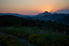 Morella at the sunset. (GlebLv) Tags: sony a6000 sel50f18 spain espana valencia morella sunset summer mountains landscape nature clouds dusk evening 7dwf
