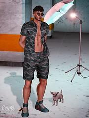 . EohB . #Catwa #Burley #Straydog #Patane #Galvanized #ValeKoer #Fakeicon (Crayolas Clothes) Tags: curly noddles catwa burley straydog patane galvanized valekoer fakeicon gay guy men man dude latino stud buddy short shirt shoes glasses sun puppy doggy studio belleza secondlife avatar 2018 outfit