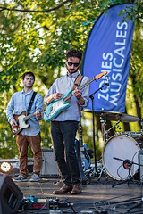 C58R2430 (Nick Kozub) Tags: justin saladino band laval zones musicals festival concert gig live music spectacle fender gibson guitar ruckus fun photography canon day festive supro amp heat bassface evening 1d x 85 f12 ii l