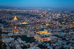 Panoramic view of Tbilisi at night, Georgia (CamelKW) Tags: georgia june2017 tbilisi panorama