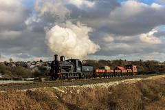 Burrs Pick-up (4486Merlin) Tags: 52322 eastlancsrailway england europe exly exlms goodstrain heritagerailways northwest pregroupinglms railways steam transport unitedkingdom burrscountryparkbury lancashire gbr 3p20parcelsgroup