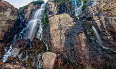 TImberline Falls (markalt) Tags: rocky mountains canon colorado photography art lake alpine nature north america water mountain outside outdoors rmnp estes park clouds outdoor landscape light photos usa vacation trip wasser mountainside watercourse hill ridge canyon fall tree sky 2018