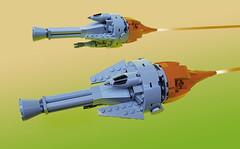 Ramjet interceptors (Shannon Ocean) Tags: retrospace 1970s spaceship starfighter