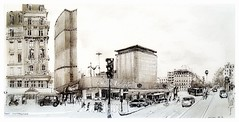 Paris Montparnasse - France (guymoll) Tags: paris montparnasse croquis sketch crayon googleearthstreetview panoramique panoramic ville rues streets