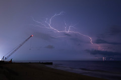 Electrifying (Joe_R) Tags: lightning bayhead ocean landscape beach newjersey unitedstates us beacheslandscapes