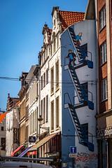 Tintin Getaway (shiftdnb) Tags: nikond3s hdr summer sidetrip nikon art fx belgium graffiti brussels streetart eurotrip tintin nikonfx europe d3s