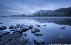 Coniston Water before Sunrise (Alastair Marsh Photography) Tags: landscape landscapephotography coniston oldman oidmanofconiston lake lakedistrict water countryside englishcountryside longexposure canon clouds cloud cloudformations trees tree hills hill mountain mountains mist misty atmosphere atmospheric reflection reflections