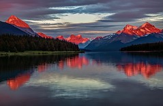 Fire on the mountains (Cole Chase Photography) Tags: jasper jaspernationalpark alberta canada malignelake canadianrockies