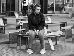 Just girl (pilot3ddd) Tags: stpetersburg streetphoto streetportrait moskovskayametrostation blackwhite olympusomdem5markii olympusmzuiko45mmf18