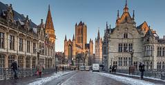 Puente-de-Gante (Fotoencuadre Miguel Alvarez) Tags: gante flandes belgica canalesdegante canales europa ciudd medieval