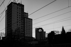 When the lights go down, I will be there (gambajo) Tags: 1year1town1lens brühl blackandwhite blackwhite black white street public outdoors urban city cable wire catenary tram tower building house lamp dark moody haus hochhaus oberleitung kabel draht dunkel düster x100s fujix100s fujifilmx100s