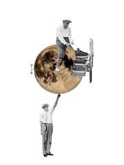 Leo & Pip, by David Navarro (Leo & Pipo) Tags: leoetpipo paris street art collage artwork portrait imaginary cut paste paper digital retro vintage mixed media graphic design old france music illustration dua dada surreal painting leo pipo leopipo david navarro
