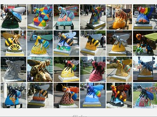 A collage of Manchester Worker Bees