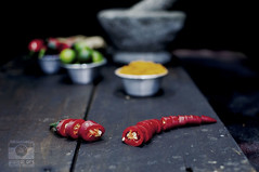 coverted-A-Flickr (Stephanie Lena Lee) Tags: red chilli chili fresh seed foodphotography sambal