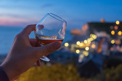Cheers (sdupimages) Tags: citylight reflet verre boisson reflection glass food details pov drink calvados alcohol dof bokeh bluehour night