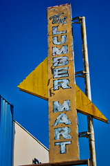 Woods R US (Rusty Irons) Tags: sign old decay abadoned oklahoma ghost neon lumber small town city yellow blue