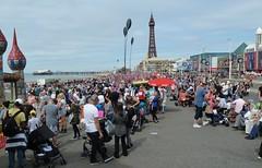20180811 Blackpool Airshow Crowd (blackpoolbeach) Tags: blackpool promenade airshow air display crowd dunegrass tower