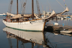 Yacht | Tallinn Harbour (Henry Hemming) Tags: yacht boat schooner old rigged harbour estonia water reflection colour bright sunny isolated