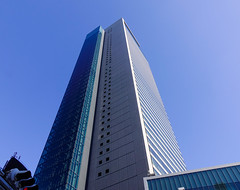 Modern buildings in Nagoya, Japan (phuong.sg@gmail.com) Tags: abstract angle apartment architecture area azure block blue building business center city commercial construction corporation design district downtown edifice estate exterior facade futuristic geometric glass glazed mirrored modern new office pane perspective place prospective real rectangular reflection shadow shape sky skyscraper view wall window