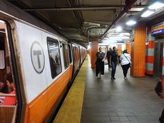 201807034 Boston subway station 'State Street' (taigatrommelchen) Tags: 20180727 usa ma massachusetts boston urban railway railroad mass transit subway station tunnel train mbta