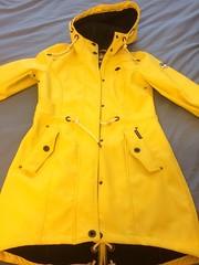 Schmuddelwedda - Parka yellow front (ShinyNylonFan) Tags: raincoat rainjacket waterproof schmuddelwedda yellow
