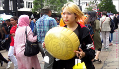 `2359 (roll the dice) Tags: london westminster w1 westend oxfordstreet chinese lights asian pill surreal streetphotography busy crowd people rush fashion rain wet hot sunny pretty sexy girl shopping canon tourism tourists urban unaware unknown england uk art classic mad sad fun funny happy reaction yellow portrait stranger candid roma italy cushion eyes face sales shops sly blonde fendi