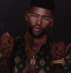 -Huncho pt.1 (Laith Swank) Tags: blog photography secondlife slphoto shadows screenshot virtualworld virtualgaming virtual bjewla jewelry watch ring chain gold urban maleblog male malefashion