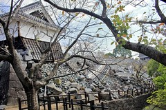 Kumamoto Castle (Bakuman3188) Tags: kumamoto castle japan building burg gebäude zerstört destroyed earthquake erdbeben architecture architektur 熊本 城 日本 建物 地震 車 木