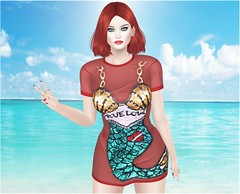 Sea glam (Millarca 2010 (Carmilla Halasy)) Tags: rosary kirin lelutka truth