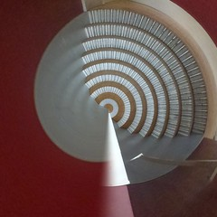 Concentrically Curved Corrugations (unclebobjim) Tags: corrugated facings curved square tinyplanet photoscapex red silver concentric corrugationsconcentricallycurved corrugations concentrically shockofthenew