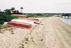 (Doug J.) Tags: film 35mm canon eos rebelg 500n 40mm f28 afga agfaphoto vista 200 beach summer overcast edgartown marthasvineyard marthas vineyard vacation sand sandy boats lighthouse shore newengland