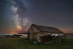 'Bardsey Boathouse' - Ynys Enlli (Kristofer Williams) Tags: bardseyisland ynysenlli boathouse stars night sky nightscape landscape milkyway island coast beach wales