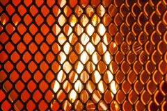 Mesh - [MacroMondays_20180813] (Arranion) Tags: macromonday macromondays mesh macro macromania macrotextures light lights orange color colour themed bulb closeup canon eos 5d2 macrolens
