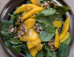 Mango, spinach, walnut salad (Poupetta) Tags: homemade salad