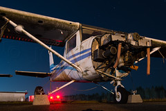 POOR ONE ALPHA ALPHA (Kaiserjp) Tags: c150 cessna150 n761aa derelict night airplane rotting salvage prop cessna generalaviation dark parked storage longexposure