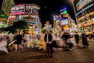 Shibuya Crossing Self-portrait