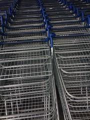 "Shopping Trolleys. (Bennydorm) Tags: ""mealsonwheels"" shiny tesco tidy orderly arrangement formation inghilterra inglaterra angleterre europe uk gb britain england cumbria furness barrowinfurness barrow retail supermarkets april iphone5s metal baskets trolleys shopping"