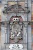 Royal coat of arms in Plaza Mayor, Madrid (d0gwalker) Tags: madrid spain plazamayor crest shield emblem coatofarms carlosii casadelapanaderia