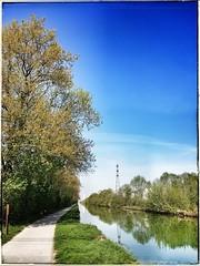 2018. Sortie vélo. Temps exceptionnel. Le canal de Reims. (Phimagery) Tags: endomondo bikeride endomondoapp cycling reims canal vélo samsung smn950f note8 samsungnote8 mobilephotography mobilephoto mobilephotos phonecamera cameraphone phonephotography