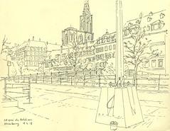 Quai des Bateliers - Strasbourg (lolo wagner) Tags: croquis sketch alsace urbansketchers usk strasbourg