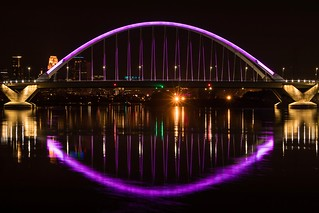 On April 21st the City of Minneapolis lit the Lowry Ave Bridge in purple to honor Prince.